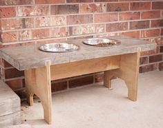 Dog Dish Table by Ethan A. Mason