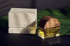 Kim Lewis Studio crafted the brand identity, bottle design, and packaging design for Carta, a new perfume experience rooted in unique locations on Earth and their ecologies.