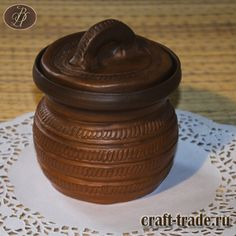 Керамический порционный горшочек для запекания - гончарная посуда в интернет-магазине Рукоделец #рукоделец #магазин #handmade #керамика #горшочек #pottery #керамическая_посуда