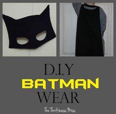 DIY Batman Wear: Cape and Mask for Kids DIY Halloween