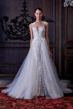 Vestidos de noiva Monique Lhuillier 2016: a essência da beleza e bom gosto Image: 30