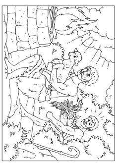 Coloring Page Cain And Abel