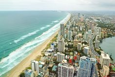 Part of the Gold Coast's famous mile) long coastline seen from SkyPoint Tower - Surfer Paradise, Queensland Gold Coast Queensland, Cairns Queensland, Gold Coast Australia, Queensland Australia, Western Australia, Maine, City Of Adelaide, Coast Hotels, Ocean Photography