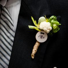 vegetable wedding boutonniere