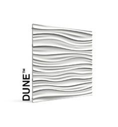 Interlocking 3-D contoured panels - Dune ripples reminiscent of waves - great for a modern feature wall - select any paint color!