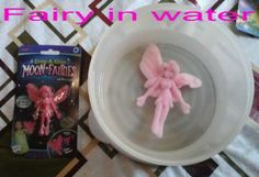 Pink, Grow and Glow in Dark Moon Fairies, Toy, Grows up to 600% after water, soaking for 2 days!