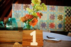 DIY Wedding Guest Table Numbers Wedding Photography Jamie Montgomery Photography
