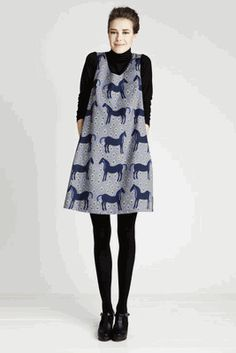 marimekko dress- horses  love this look!!... but sure is straight from my high-school years!!!!! can I still wear it 50 yrs later?!?!?!?!?!?lol
