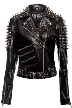 Spike Leather Jacket [VEGAN] | KILLSTAR