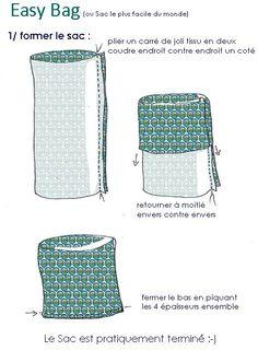 comment fabriquer sac en tissu DIY