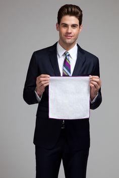"""And now, Chad White on """"how to fold a pocket square."""""""