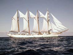 un velero bergantín...