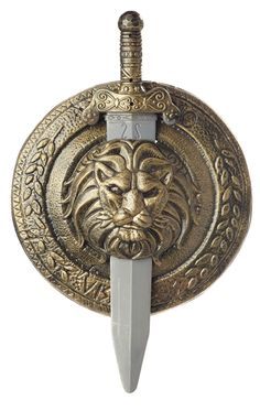 12 Inch Gladiator Combat Shield & Sword