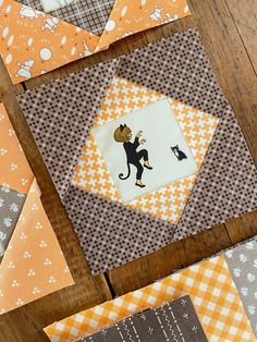 Carried Away Quilting: Economy Block tutorial Halloween Quilts, Halloween Fabric, Vintage Halloween, Halloween Ideas, Pattern Blocks, Quilt Patterns, Quilting Ideas, Belle And Boo, Christmas Runner
