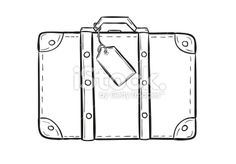 sketch of the suitcase Royalty Free Stock Vector Art Illustration
