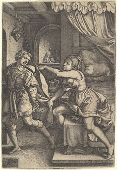 Joseph and Potiphar's Wife, from The Story of Joseph Georg Pencz (German, Wroclaw ca. 1500–1550 Leipzig)