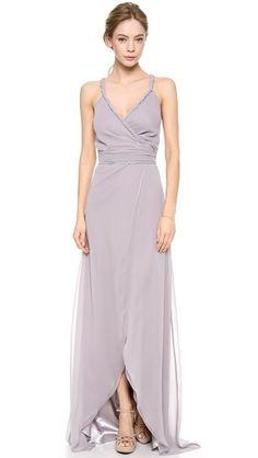 Joanna August The Parker Twist Strap Wrap Dress in Silver Bells http://www.shopbop.com/parker-twist-strap-wrap-dress/vp/v=1/1576815325.htm?folderID=2534374302204905&fm=other-shopbysize-viewall&colorId=61713