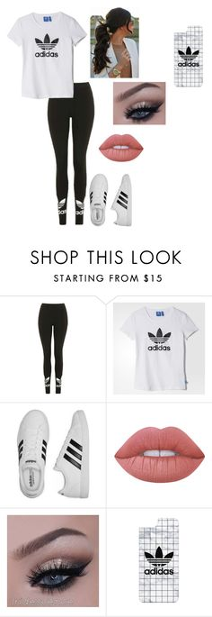 """""""Adidas"""" by averymo on Polyvore featuring Topshop, adidas, Lime Crime, Casetify, cute and cuteoutfits"""
