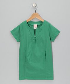 Take a look at this Green Woven Dress - Toddler & Girls by baobab on #zulily today!
