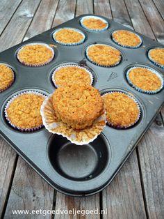 Werk vooruit en wees de ochtendstress voor met deze havermout cupcakes uit de… Yummy Snacks, Yummy Food, Pie Co, Dutch Recipes, Winter Food, Healthy Baking, Cakes And More, Let Them Eat Cake, No Bake Cake