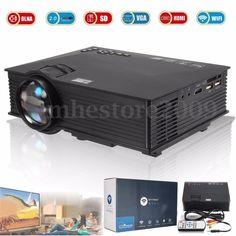 WIFI Full HD 1080P HDMI Home Theater LCD Projector Cinema USB VGA AV Portable  #Unbranded