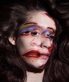 Makeup Inspo, Makeup Art, Makeup Inspiration, Eye Makeup, Maquillaje Halloween, Halloween Face Makeup, Geometric Face, Art Visage, Rides Front
