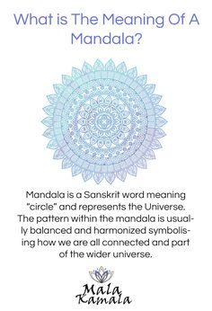 Reiki What is the meaning of a mandala? Where does a mandala come from? What is a mandala? Spiritual Yoga Symbols and What They Mean Mala Kamala Mala Beads - Boho Malas, Mala Beads, Yoga Jewelry, Meditation Jewelry, Mala Necklaces and Mandala Design, Mandala Art, Mandala Quotes, Mandala Jewelry, Mandala Symbols, Mandala Pattern, Mandala Meditation, Mindfulness Meditation, Meditation Symbols