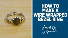 In today's episode of Susan shows you step-by-step how to make a simple wire wrapped bezel ring with gemstones. You can find supplies like the o. Wire Rings Tutorial, Wire Tutorials, Ring Tutorial, Jewelry Making Tutorials, Wire Jewelry, Jewelry Rings, Jewelry Ideas, Nespresso, Wire Jig