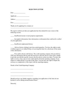Rental house application cover letter