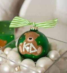 Kappa Delta Bear Ornament