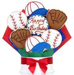 Happy Birthday/Baseball Cookie Bouquet