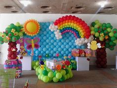 decoracion con globos - Buscar con Google Trolls Birthday Party, Rainbow Birthday Party, Unicorn Birthday Parties, Birthday Party Themes, Festa Do My Little Pony, My Little Pony Birthday, Birthday Balloon Decorations, Birthday Balloons, Deco Ballon