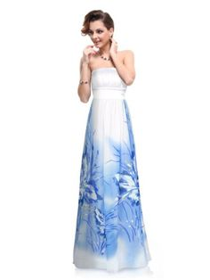 Ever Pretty Elegant Lady Floral Print Strapless Evening Dress 09277 $23.99 #topseller