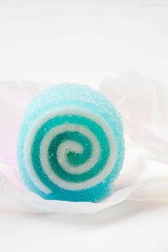 yummy turquoise & white jelly candy.