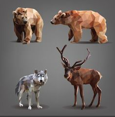 Find Set Forest Animals Bears Deer Wolf stock images in HD and millions of other royalty-free stock photos, illustrations and vectors in the Shutterstock collection. Portfolio, Low Poly, Photoshop Shapes, Wolf Images, Polygon Art, Geometric Graphic, Geometric Animal, Arte Pop, Art Graphique
