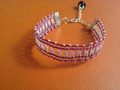 Bracelet dentelle aux fuseaux : Bracelet par histoire-de-dentelle
