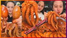 Octopus Eating, Fresh Seafood, Chicken Wings, Shrimp, Buffalo Wings