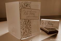 Basteln von Einladungskarten -die goldene Hochzeitgoldenes