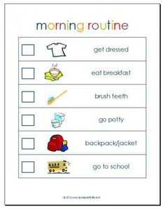 So Cute !! Morning routing free printable by Laura's crafty life