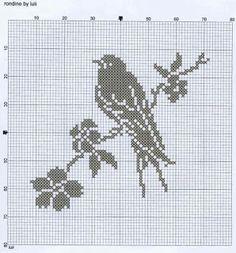 oiseau - bird - Point de croix - cross stitch - Blog : http://broderiemimie44.canalblog.com/