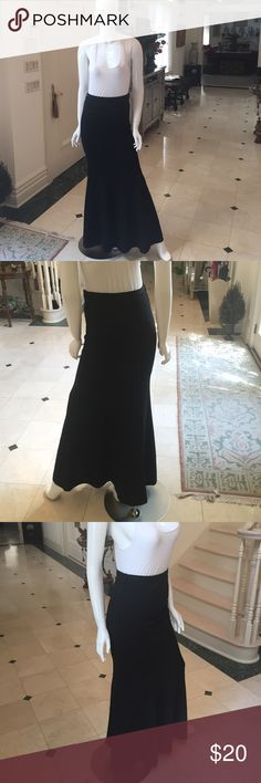 Alythea Gypsy Warrior Maxi HighWaisted Black Skirt Hip hugging long black skirt, high waisted. Zipper and clasp on the left side and belt buckles. Perfect condition. ✨ Gypsy Warrior Skirts Maxi