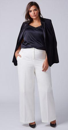 Plus Size Wide Leg Pant #plussize