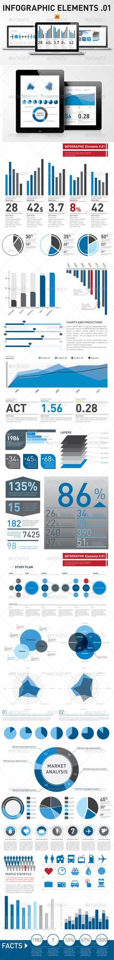 Infographic Elements Template from Graphic River.