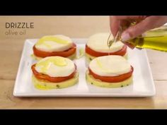 Just when you thought you knew polenta… Watch to see how you can make this delicious, anytime snack. Polenta Recipes, Italian Cheese, Fresh Mozzarella, Served Up, Appetizers, Stuffed Peppers, Snacks, Meals, Baking