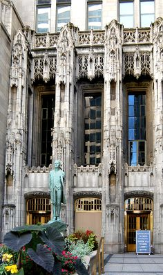 Tribune Building Chicago: I love the stones from historic sites all over the outside floor walls, and the lobby isnt too shabby, either. Visit Chicago, Chicago Travel, Chicago City, Chicago Area, Chicago Illinois, Evanston Chicago, Chicago Tribune, Amazing Architecture, Architecture Details