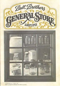 general store signage  Ball Brothers General Store Badge, Graphic Design