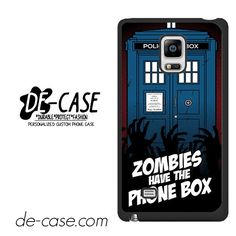 Zombie Have The Phone Box Tardis DEAL-12224 Samsung Phonecase Cover For Samsung Galaxy Note Edge