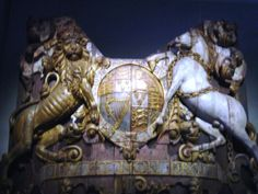 The sternpiece of the Royal Charles, captured at Chatham in 1667 and a prominent exhibit at the Rijksmuseum, Amsterdam.