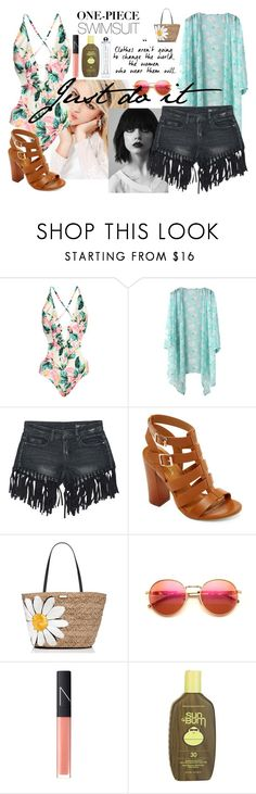 """""""Just do it"""" by epusnik ❤ liked on Polyvore featuring Silvana, Sans Souci, Bamboo, Kate Spade, Wildfox, NARS Cosmetics, Sun Bum and onepieceswimsuit"""
