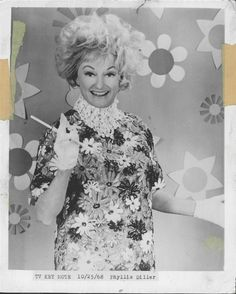 """Phyllis Diller 1968 """"burn those bras ladies! Sweet Memories, Childhood Memories, Phyllis Diller, Retro Images, Those Were The Days, Old Shows, Photographs Of People, Weird Pictures, Classic Tv"""